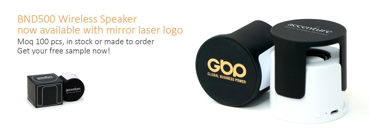 speaker with mirror laser