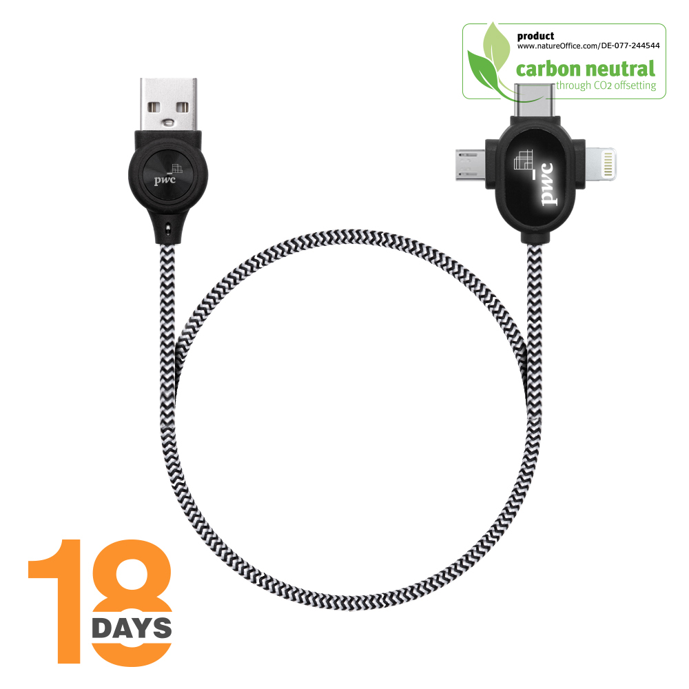 BND218 LipaNoi 3in1 charging and data cables STOCK