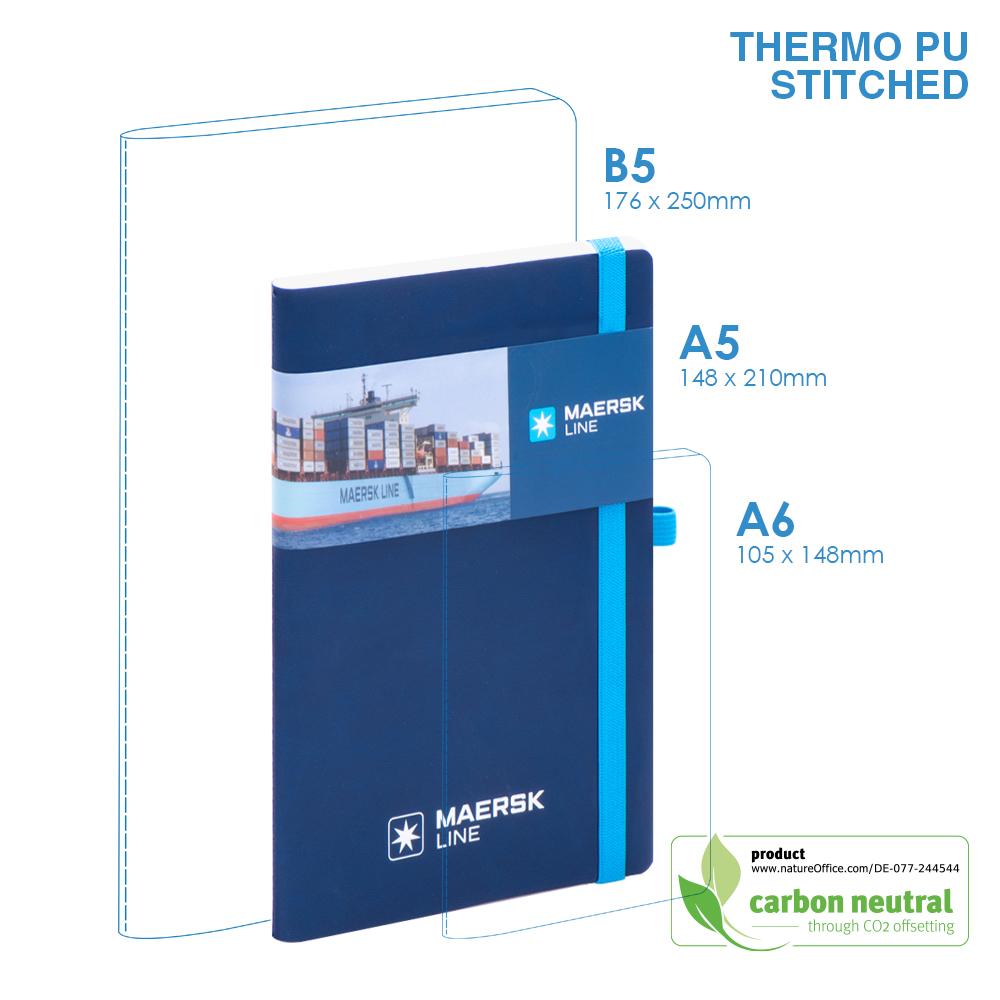 BND701 Medium Notebook| PU SOFT Cover | Stitched