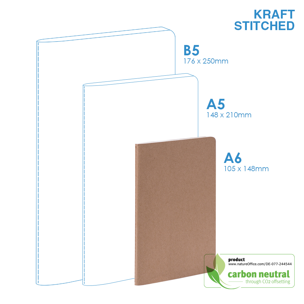 BND703 Small Notebook  KRAFT SOFT Cover Stitched