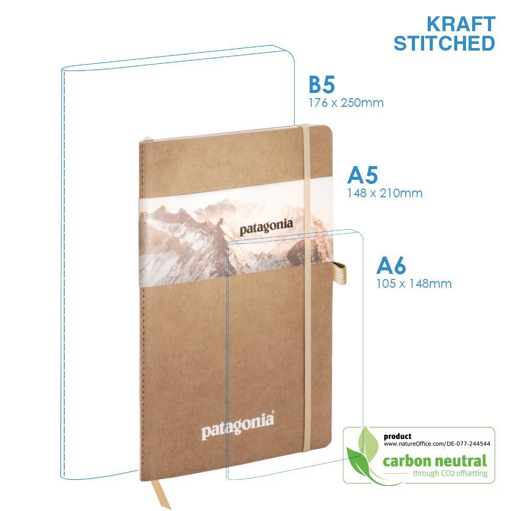 BND704 Medium Notebook|KRAFT SOFT Cover|Stitched