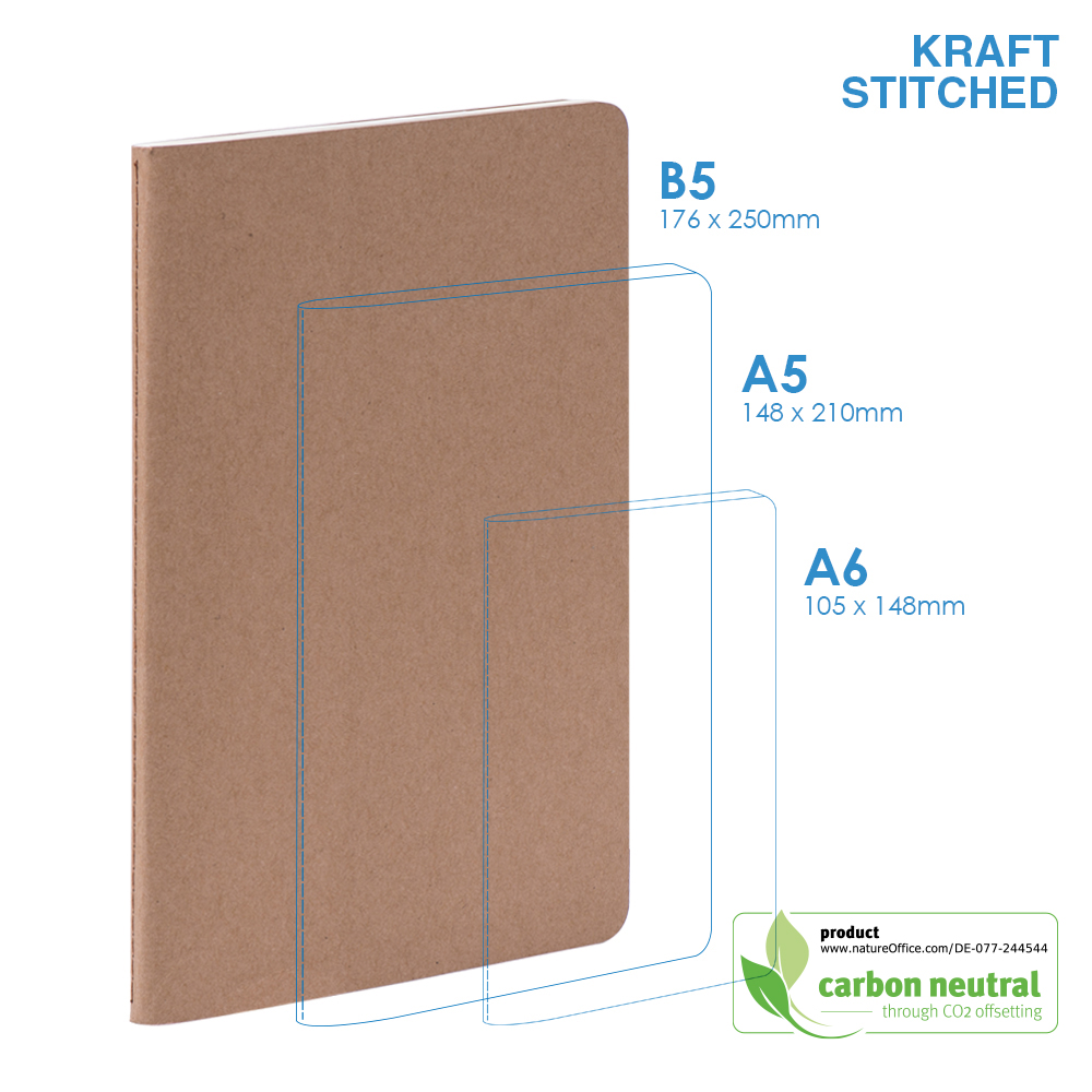 BND705 Large Notebook| KRAFT SOFT Cover|Stitched