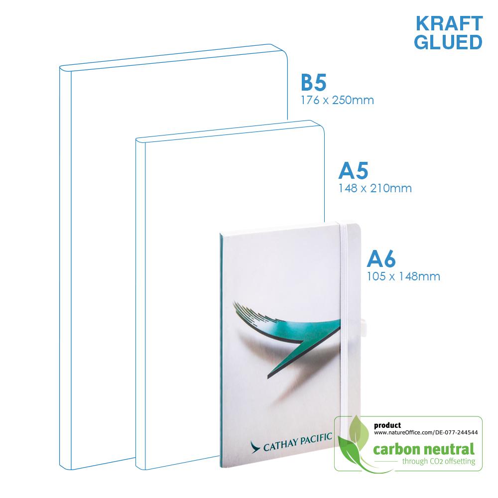 BND713 Small Notebook   KRAFT SOFT Cover   Glued