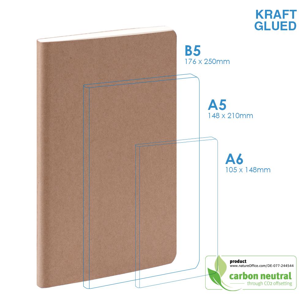 BND715 Large Notebook | KRAFT SOFT Cover | Glued
