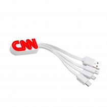 BND108 2D PVC custom 4in1 Charging cable