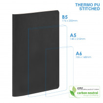 BND702 Large Notebook | PU SOFT Cover | Stitched