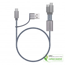 BND854 Uduo, braided charging cable (no data sync)